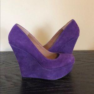 "Steve Madden ""pammyy"" purple wedge heel"